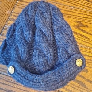 Eugenia Kim grey knitted  button cap